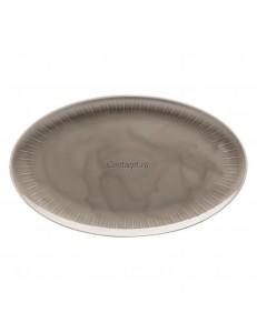 Тарелка овальная 38х33см фарфор Arzberg серия Joyn Grey