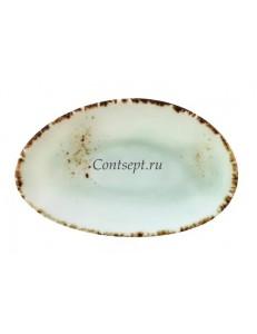 Тарелка овальная 12,5х8см фарфор PL Proff Cuisine серия ORGANICA GREEN