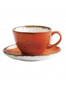 Чайная пара 200мл  серия Orange Sky Fusion фарфор PL Proff Cuisine