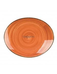 Тарелка овальная 21х17,5см серия Brown Shore Fusion фарфор PL Proff Cuisine