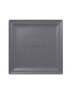 Тарелка квадратная 25х25 см фарфор RAK серия Stone