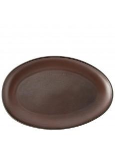 Тарелка овальная 33х24см керамика Rosenthal серия Junto Bronze