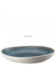 Салатник 33х32см керамика Rosenthal серия Junto Aquamarine