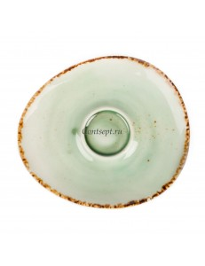Блюдце к кофейной чашке 180мл фарфор PL Proff Cuisine серия ORGANICA GREEN