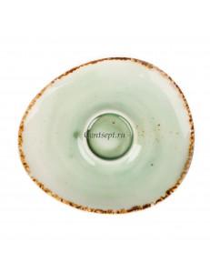 Блюдце к кофейной чашке 90мл фарфор PL Proff Cuisine серия ORGANICA GREEN