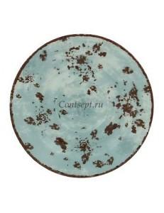 Блюдце синее 13см для чашки 90мл фарфор RAK серия Peppery