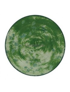 Блюдце зеленое 13см для чашки 90мл фарфор RAK серия Peppery