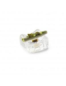 Блюдо для подачи 8х7х4см 40мл стекло  PORDAMSA серия Frost