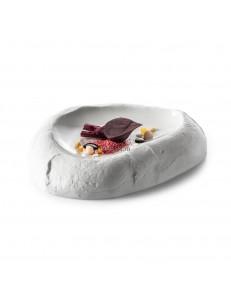 Блюдо для подачи Камень 20x16x3.5см 75мл фарфор PORDAMSA серия Sand