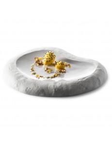 Блюдо для подачи Камень 31x26x4см фарфор PORDAMSA серия Sand