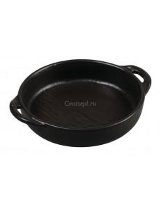 Блюдо для подачи и запекания 22х18х4 см фарфор PL Proff Cuisine серия Black star