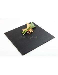 Блюдо для подачи квадратное 25х25 см сланец