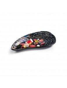 Блюдо для подачи в виде мидии  21х10см  стекло PORDAMSA серия Mediterranean Textures