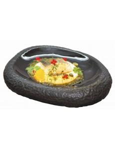 Блюдо овальное в виде камня для подачи 27,5х22см фарфор PL Proff Cuisine