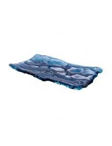 Блюдо прямоугольное  28х15см цвет синий стекло  PORDAMSA серия Mar