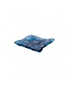 Блюдо прямоугольное 15х12см  цвет синий стекло  PORDAMSA серия Mar
