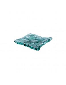 Блюдо прямоугольное 15х12см  цвет зеленый стекло  PORDAMSA серия Mar