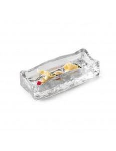 Блюдо прямоугольное 17х7х4см стекло  PORDAMSA серия Frost