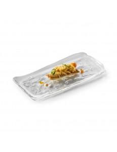 Блюдо прямоугольное 25х11х2см стекло  PORDAMSA серия Frost