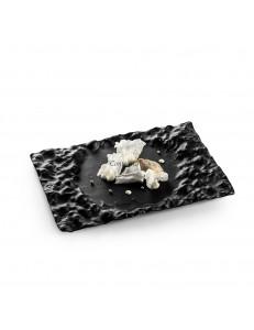 Блюдо прямоугольное 29х18см  стекло цвет черный  PORDAMSA серия Crater