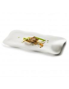 Блюдо прямоугольное 31х12см матовый фарфор PORDAMSA серия Nuages