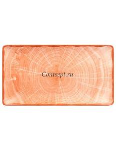 Блюдо прямоугольное 335х180мм оранжевое фарфор RAK серия Woodart