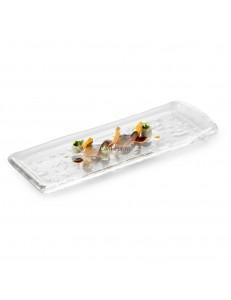 Блюдо прямоугольное 34х11х2см стекло PORDAMSA серия Frost