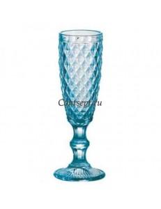 Бокал для шампанского 140мл синий Diamonds