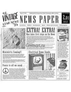 Бумага газета для сервировки 30х30см белый цвет 1упаковка 1000листов