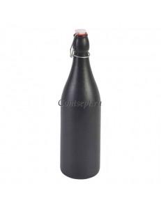 Бутылка с пробкой на застежке 1л 33.5х9см керамика GENWARE серия Forge