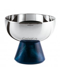 Чаша на подставке 11х9,5см синяя ножка Sambonet Madame