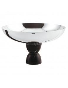 Чаша с посеребреннием 26х15,3см черная ножка Sambonet Madame