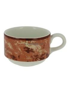Чашка чайная оранжевая 230 мл фарфор RAK серия Peppery