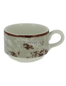 Чашка чайная серая 230 мл фарфор RAK серия Peppery
