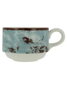 Чашка чайная синяя 230 мл фарфор RAK серия Peppery