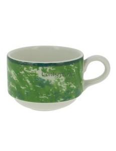 Чашка чайная зеленая 230 мл фарфор RAK серия Peppery