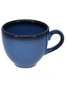 Чашка для эспрессо 90мл синяя фарфор RAK серия LEA