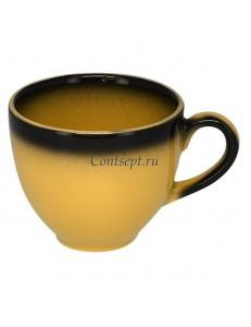 Чашка для эспрессо 90мл желтая фарфор RAK серия LEA