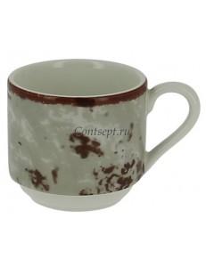 Чашка для эспрессо серая 90 мл фарфор RAK серия Peppery