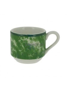 Чашка для эспрессо зеленая 90 мл фарфор RAK серия Peppery
