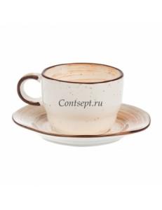 Чайная пара 250мл фарфор PL Proff Cuisine серия DESERT FUSION