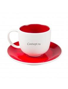 Чайная пара 250мл серия Rubi Sunset фарфор PL Proff Cuisine