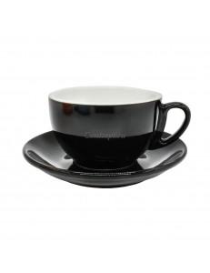 Чайная пара 270мл черный цвет серия Barista фарфор PL Proff Cuisine