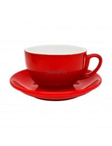 Чайная пара 270мл красный цвет серия Barista фарфор PL Proff Cuisine