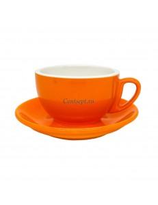 Чайная пара 270мл оранжевый цвет серия Barista фарфор PL Proff Cuisine