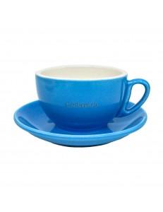 Чайная пара 270мл синий цвет серия Barista фарфор PL Proff Cuisine