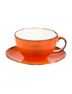 Чайная пара 375мл серия Orange Sky Fusion фарфор PL Proff Cuisine
