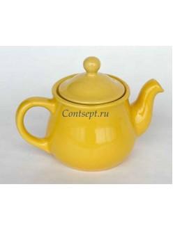 Чайник 500мл желтый керамика Kera Ceramika
