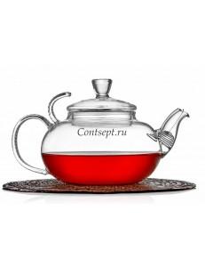 Чайник заварочный 600мл с фильтром в носике термостекло