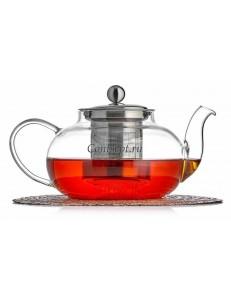 Чайник заварочный с металлической колбой 500мл термостекло